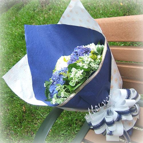 御花苑-藍色精靈繡球花幸福花束