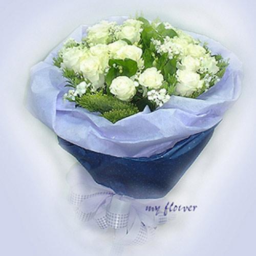 御花苑-白玫瑰花 -握住幸福情人節花店競選花束