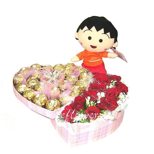 心心相印5067-紅玫瑰金莎巧克力組合